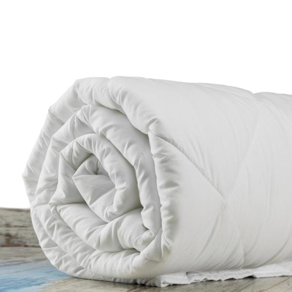 100% New Zealand Wool 400 GSM Organic Full/Queen White Cotton Cover 8-Tie Duvet Insert