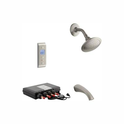 Mistos DTV Prompt Digital Single-Handle 1-Spray Tub and Shower Faucet System in Vibrant Brushed Nickel (Valve Included)