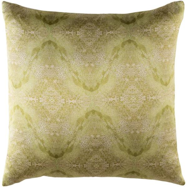 Collingwood Green Graphic Polyester 22 in. x 22 in. Throw Pillow
