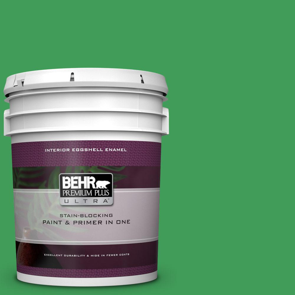 BEHR Premium Plus Ultra 5 gal  #P400-6 Clover Patch Eggshell Enamel  Interior Paint and Primer in One