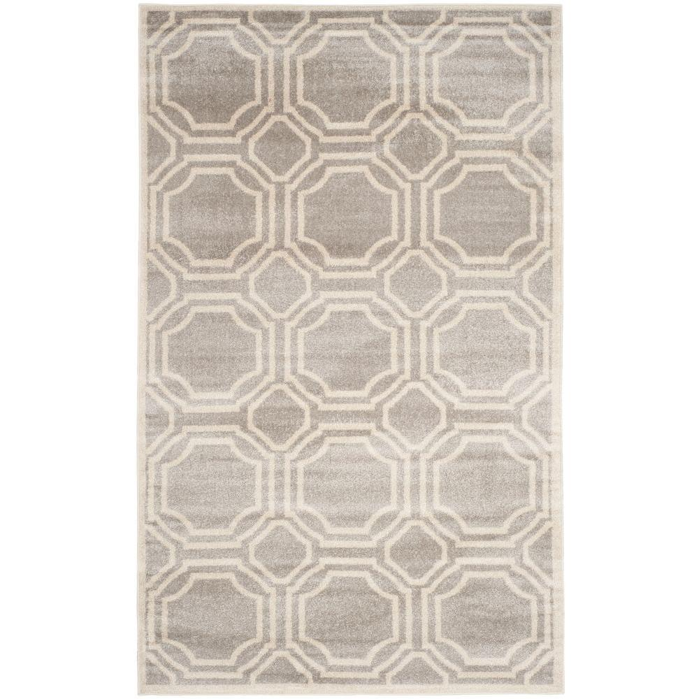 Amherst Light Gray Ivory 8 Ft X 10 Indoor Outdoor Area
