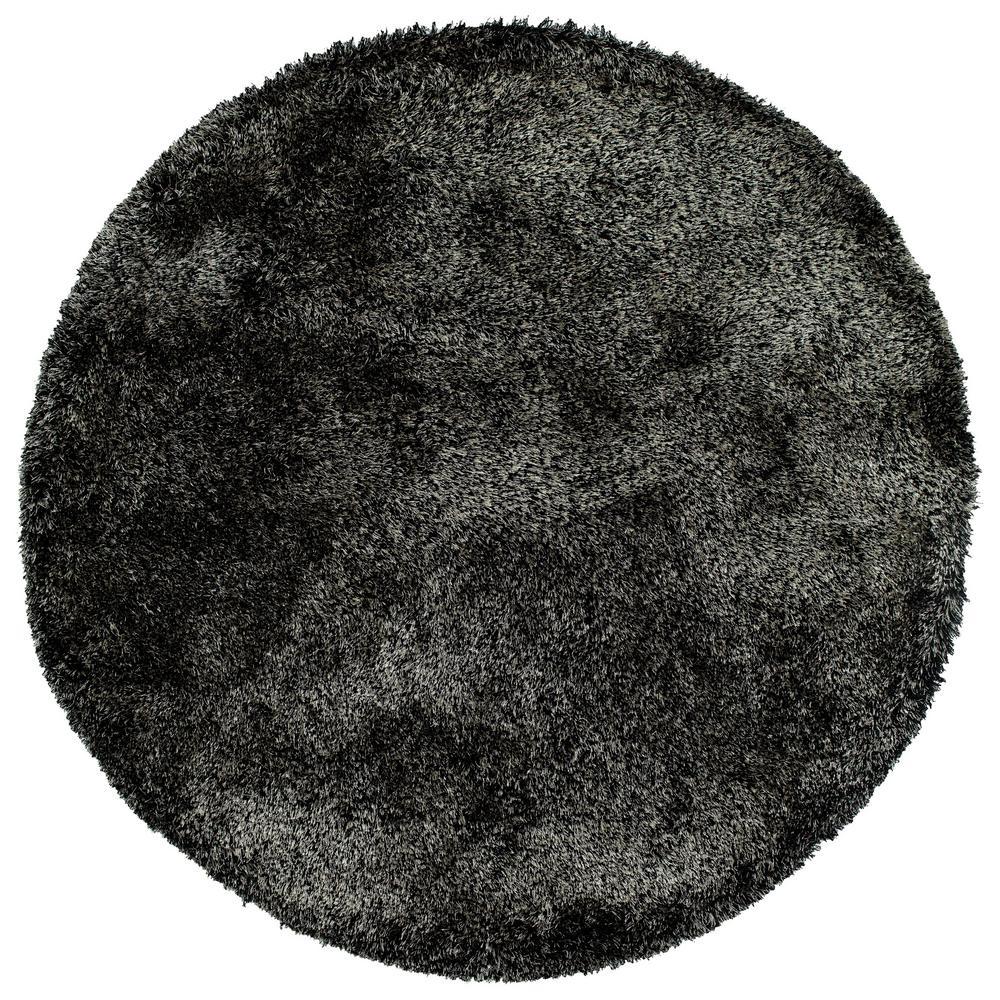 It's So Fabulous Black 4 ft. x 4 ft. Round Area