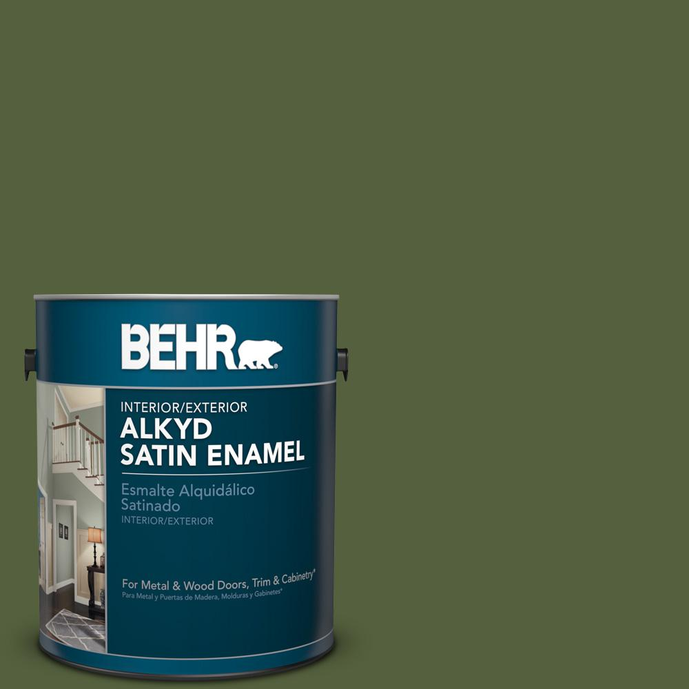 1 gal. #S360-7 Down To Earth Satin Enamel Alkyd Interior/Exterior Paint