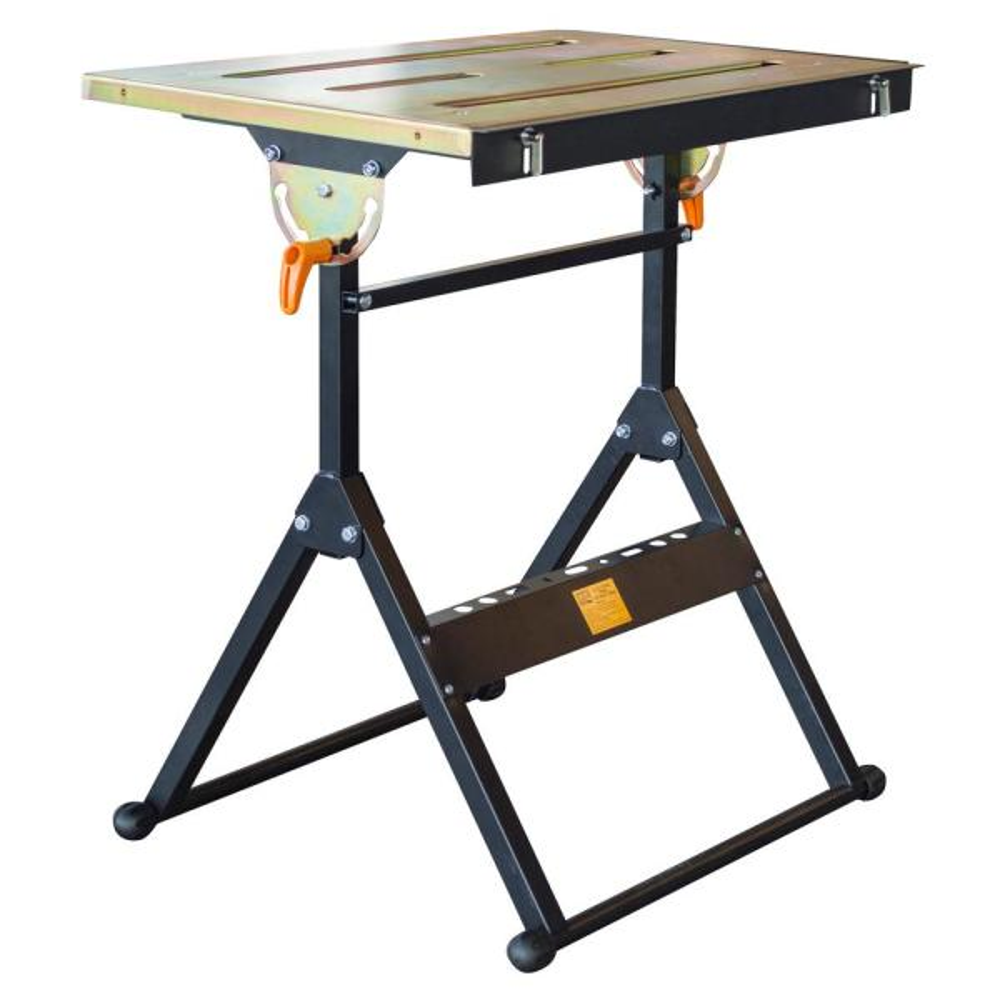 30 in. x 22 in. Foldable Flameproof Steel Welding Table with Adjustable Tilt Top