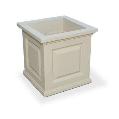 Nantucket 16 in. Square Clay Plastic Planter