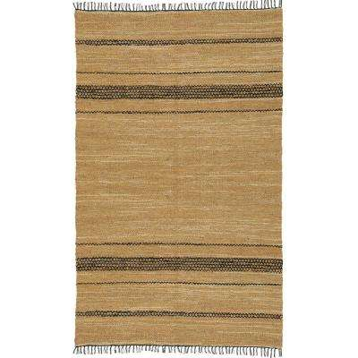 Tan Leather 3 ft. x 4 ft. Area Rug