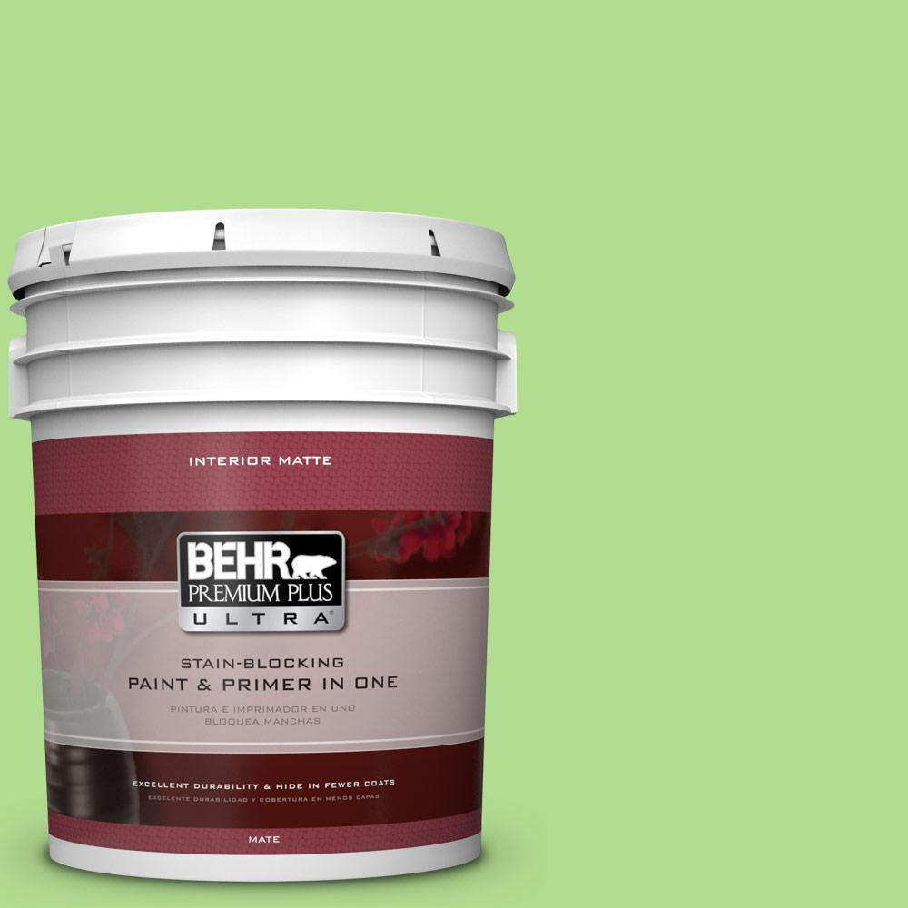 5 gal. #MQ4-46 Early Spring Matte Interior Paint and Primer in