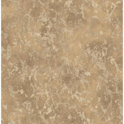 Imogen Copper Faux Marble Wallpaper Sample