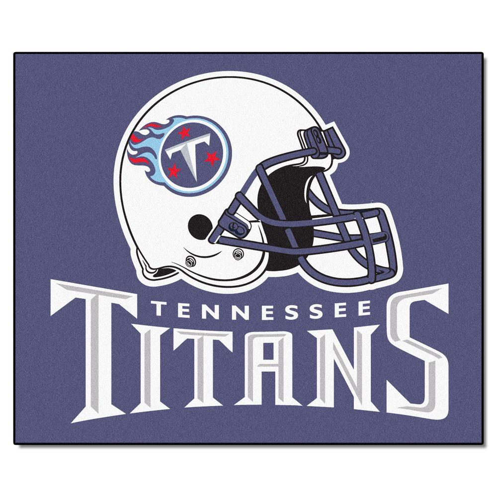 FANMATS Tennessee Titans 5 ft. x 6 ft. Tailgater Rug