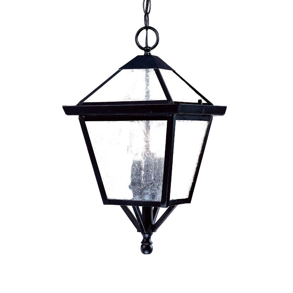 Acclaim Lighting Bay Street Collection 3-Light Matte Black Outdoor ...
