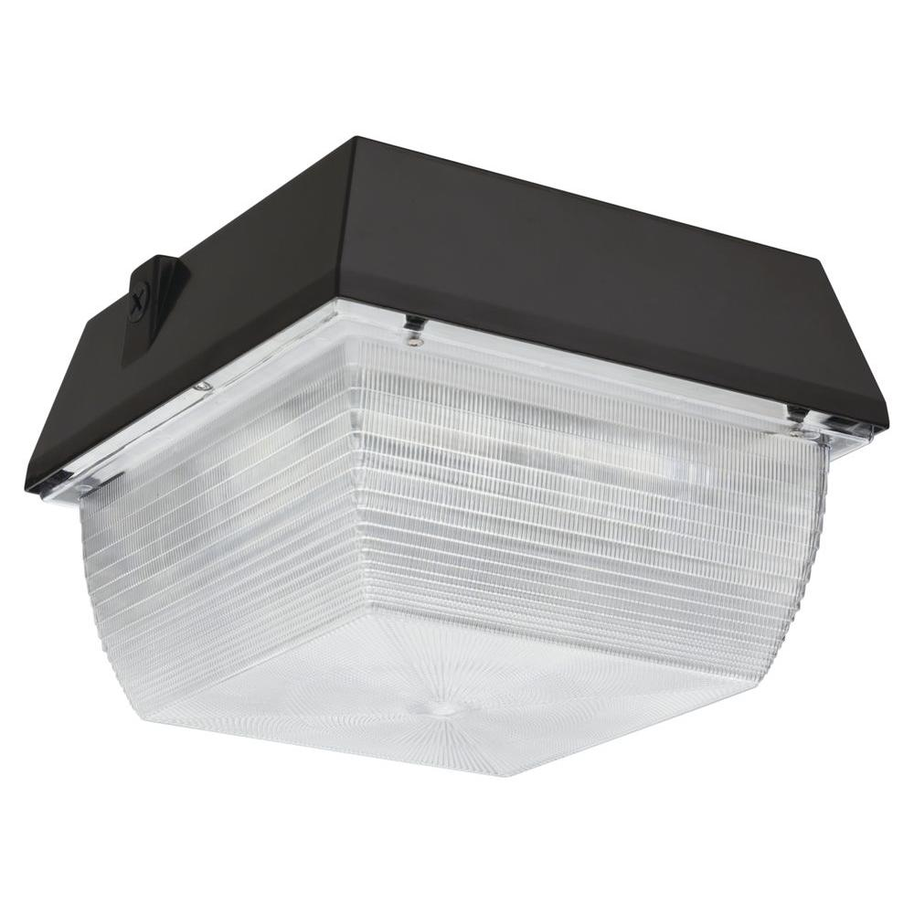 Home Depot Garage Lights Outdoor: Lithonia Lighting Ceiling Mount Outdoor Dark Bronze LED