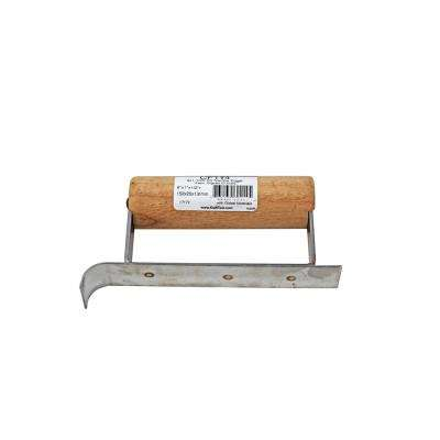 6 in. x 1 in. 1/2 in. R Stainless Steel Narrow Edger - Wood Handle
