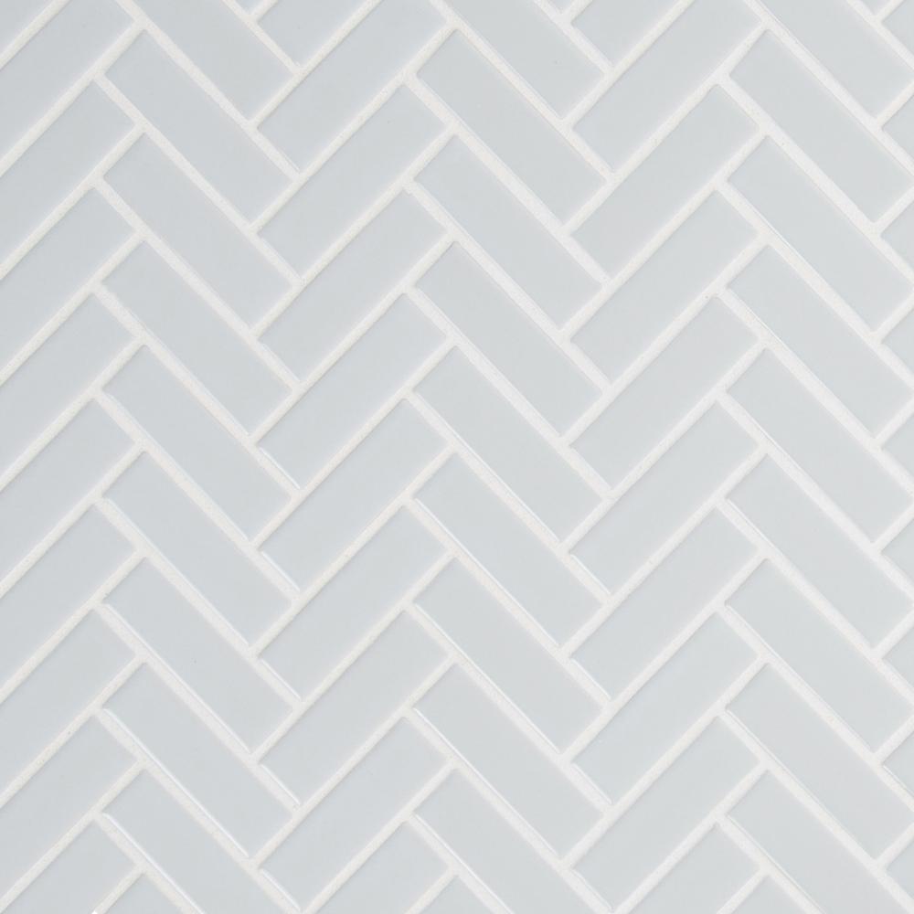 Herringbone Gray Tile Flooring
