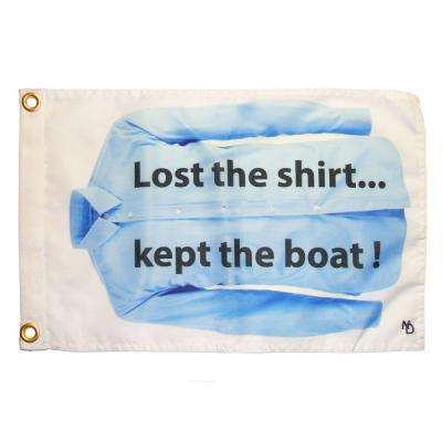 12 in. x 18 in. Lost Shirt Funny Flag