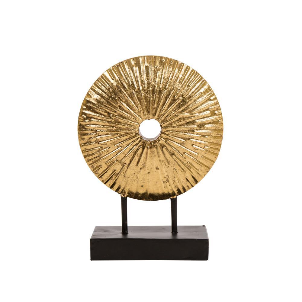 11.02 in. H Gold Accent Sunburst Tabletop Decor