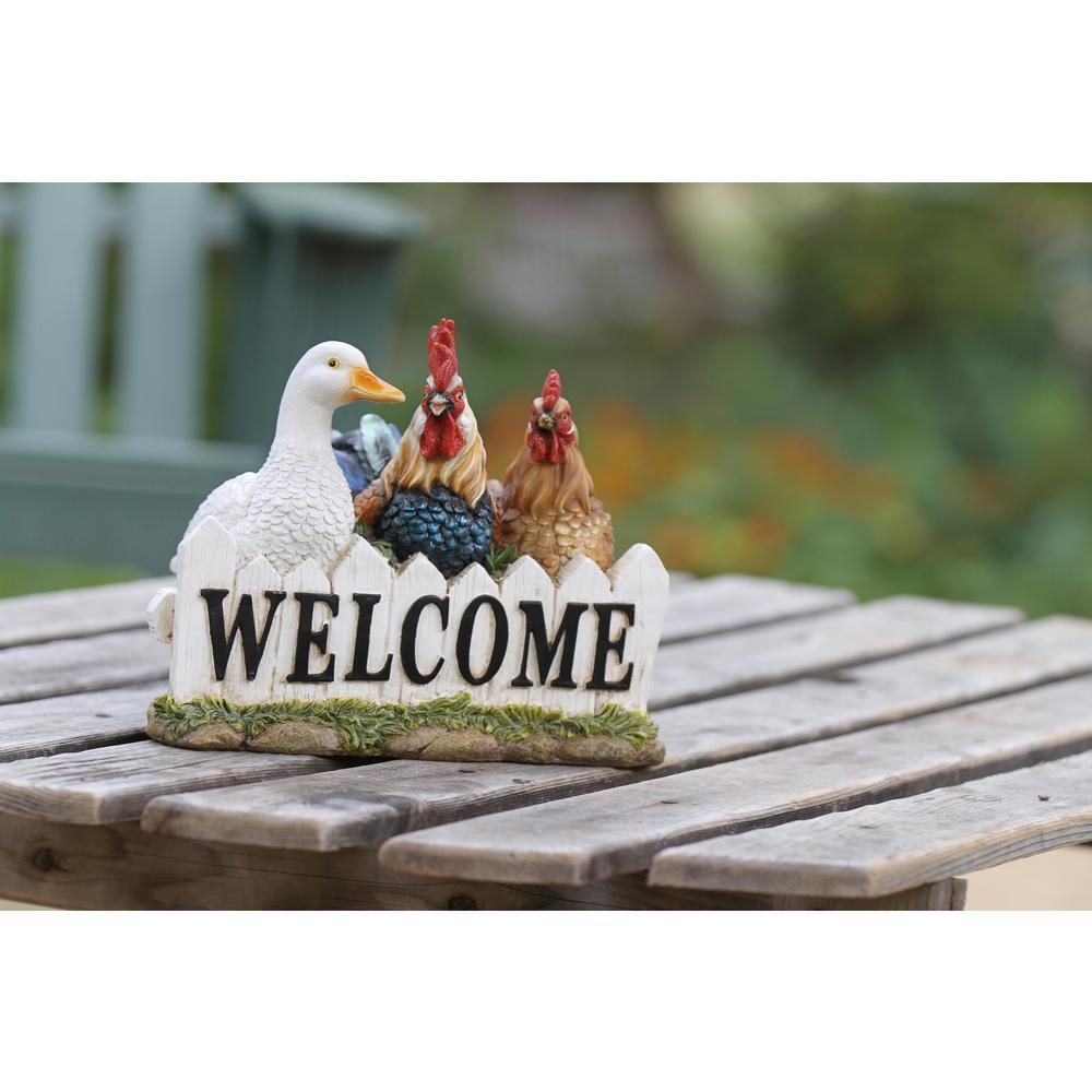 Birds Welcome Statue
