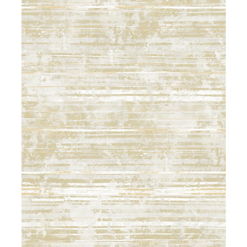 Makayla Light Yellow Stripe Wallpaper