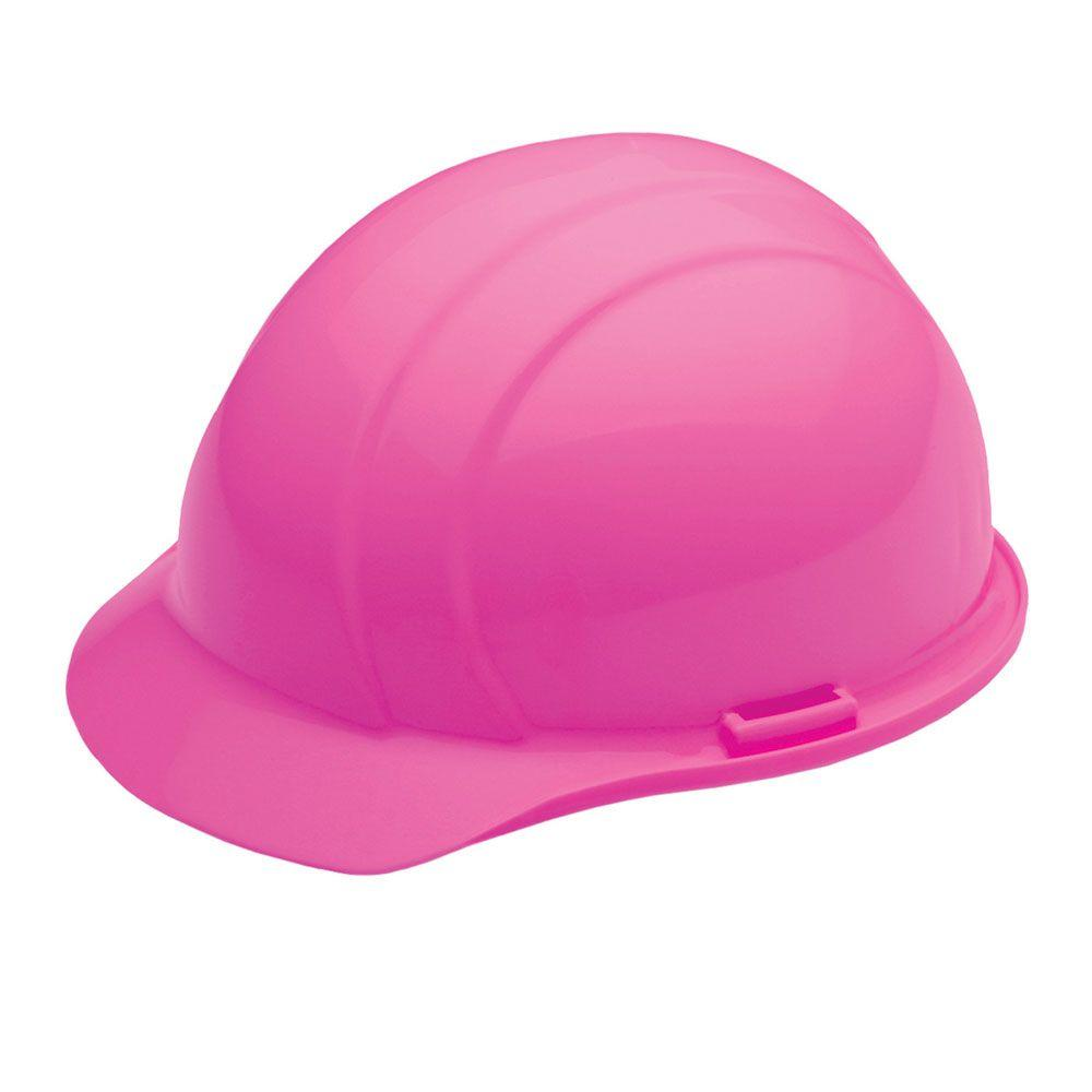4 Point Nylon Suspension Slide-Lock Cap Hard Hat in Hi Viz