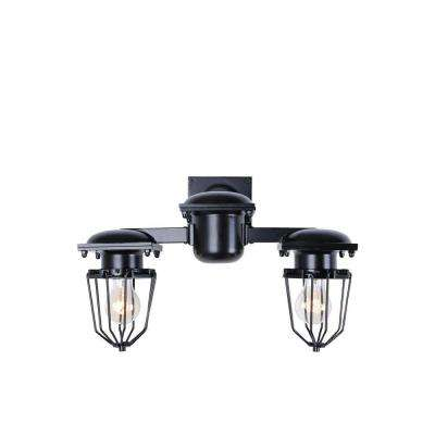 Kingston 2-Light Black Wall Sconce