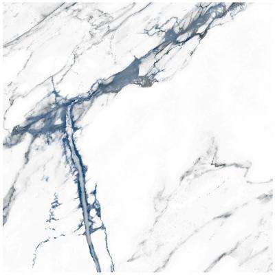 Calacatta Indigo 24 in. x 24 in. Matte Porcelain Floor and Wall Tile (4 pieces/15.49 sq. ft./Case)