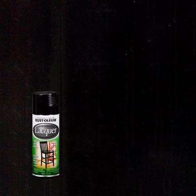 11 oz. Gloss Black Lacquer Spray Paint