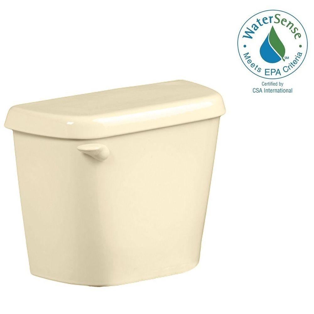 American Standard Colony 1.28 GPF Single Flush Toilet Tank Only for 12 in. Rough in Bone