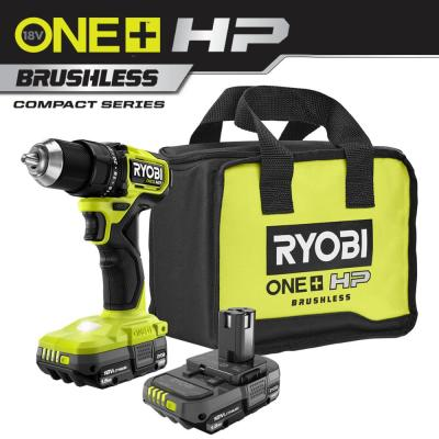 ONE+ HP 18V Brushless Cordless Compact 1/2 in. Drill/Driver Kit with (2) 1.5 Ah Batteries, Charger and Bag