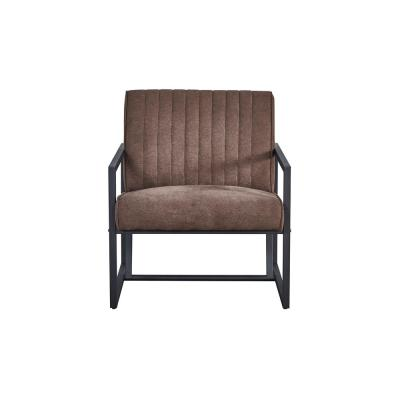 Brown Modern High Quality Fabric Steel Accent Arm Chair