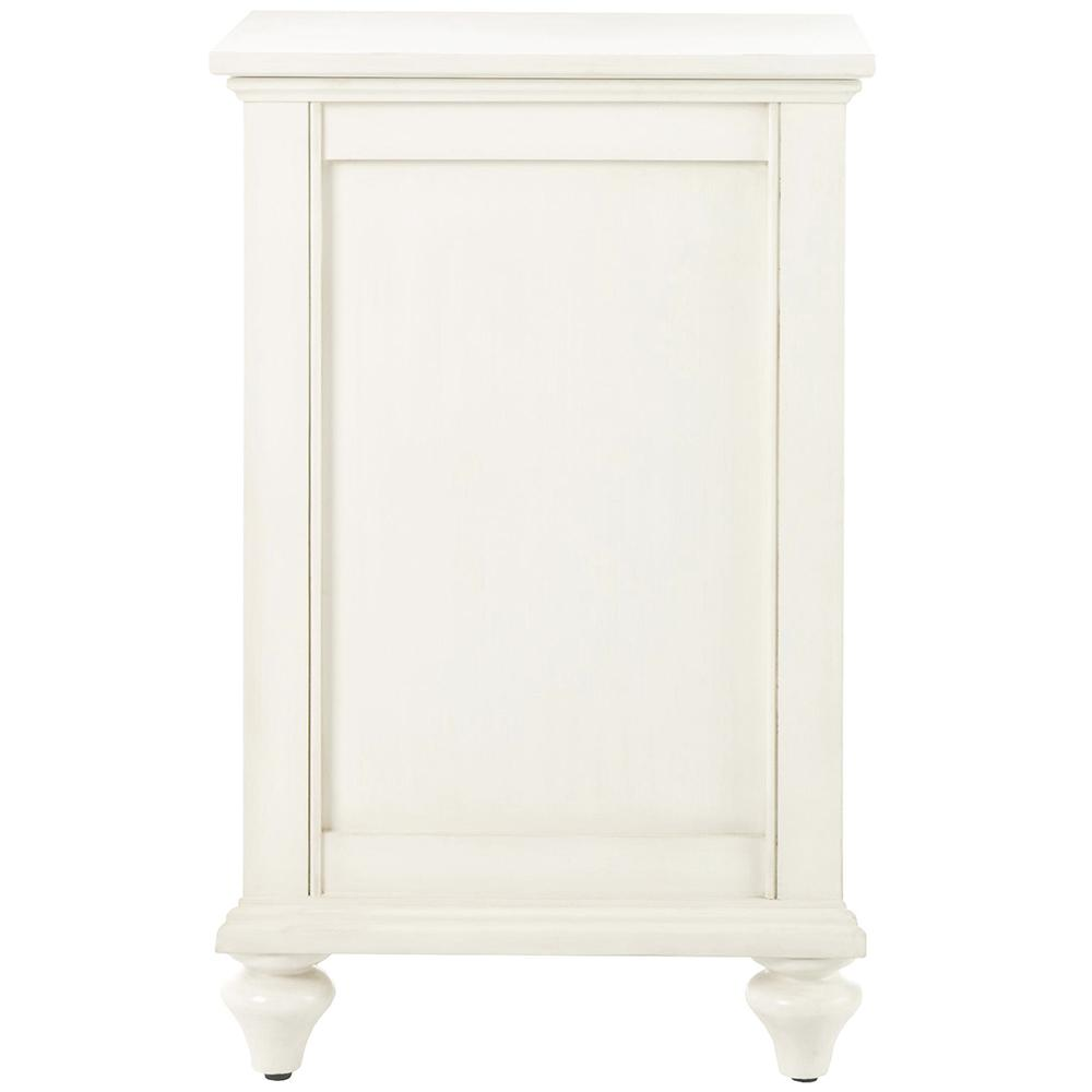 Home Decorators Collection Hamilton 18.5 in. W Ivory Lift-Top Hamper
