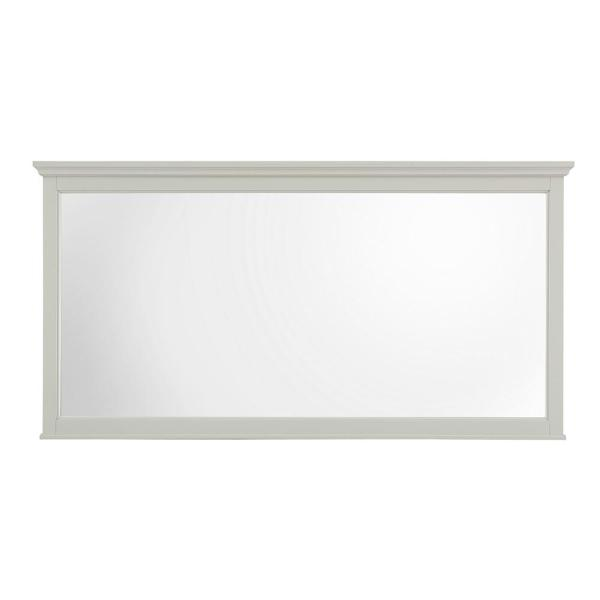 60 in. W x 31 in. H Framed Rectangular  Bathroom Vanity Mirror in Grey