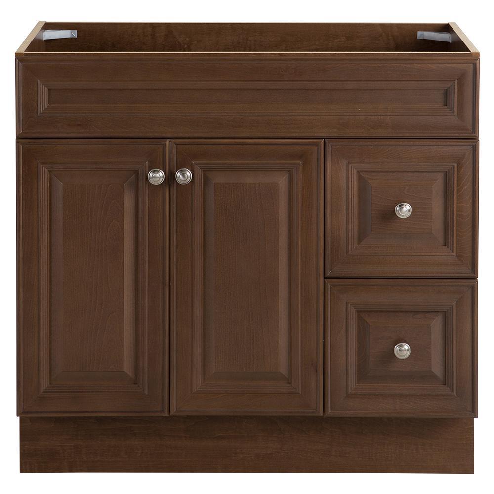 Glensford 36 in. W x 22 in. D x 34 in. H Bath Vanity Cabinet in Butterscotch