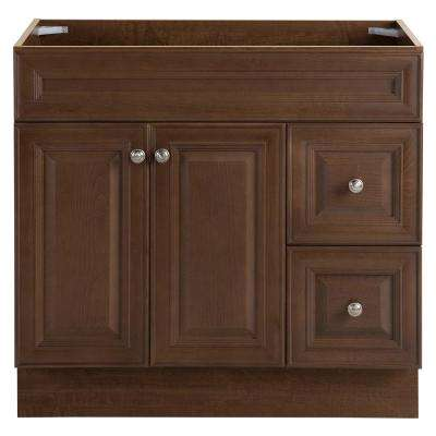 Glensford 35.98 in. W x 21.65 in. D x 34.21 in. H Vanity Cabinet Only in Butterscotch