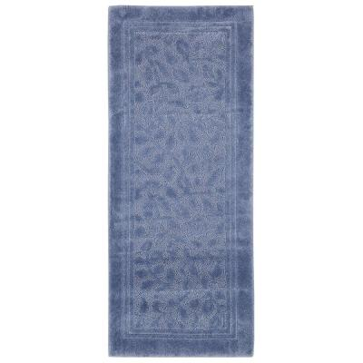 Wellington 24 in. x 60 in. Nylon Bath Runner in Blue