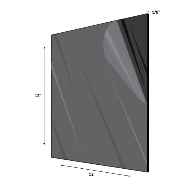 Adiroffice 12 In X 12 In X 0 125 In Black Plexiglass Acrylic Sheet 3 Pack 1212 3 B The Home Depot