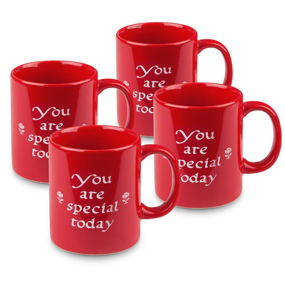 """Waechtersbach 4-Piece """"You Are Special Today"""" Ceramic Mug Set"""
