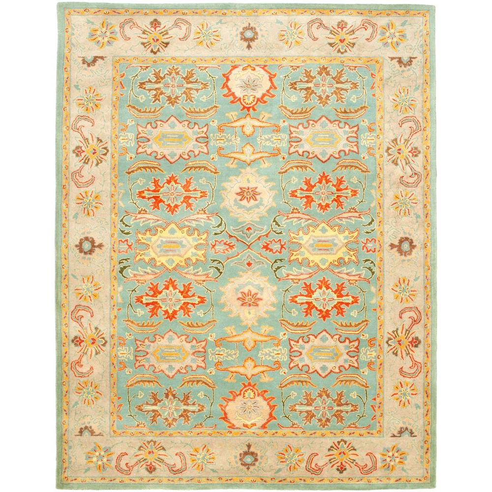 Heritage Light Blue/Ivory 9 ft. x 12 ft. Area Rug