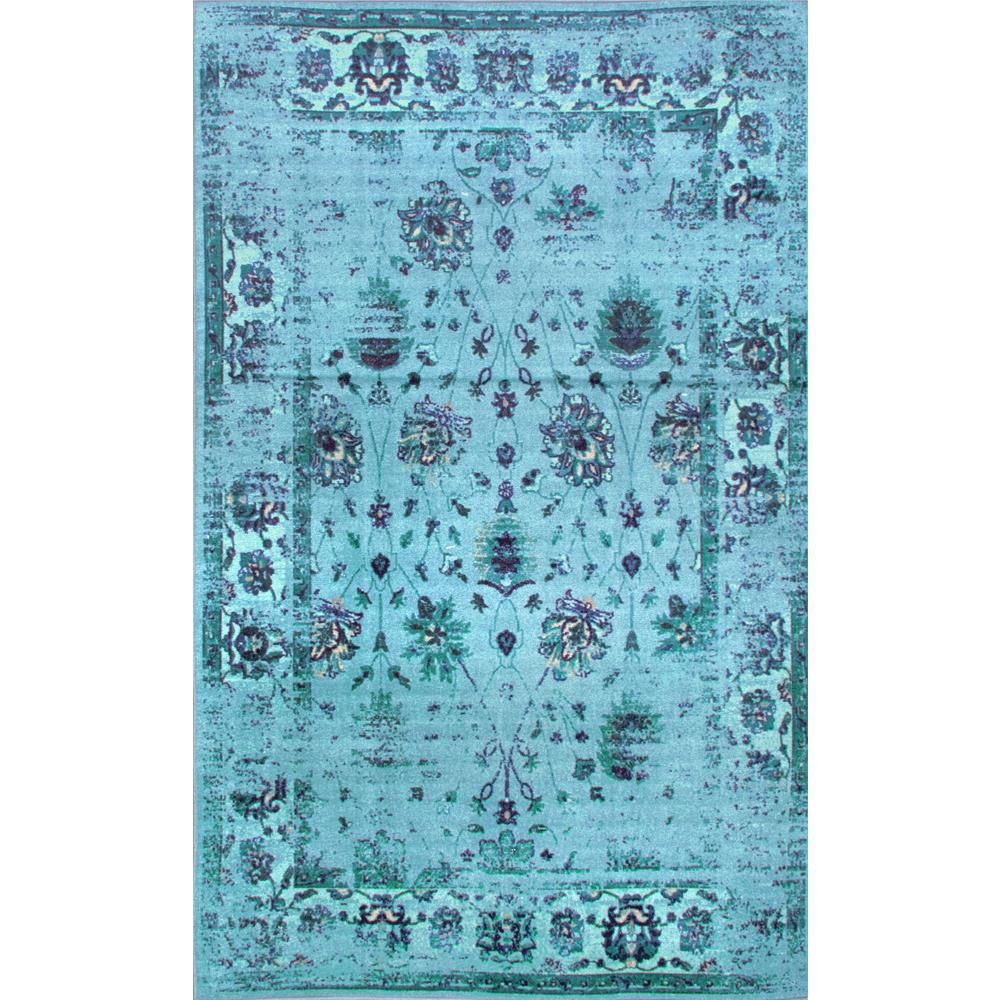 Nuloom Crandall Turquoise Area Rug Reviews: NuLOOM Vintage Tosha Turquoise 8 Ft. X 10 Ft. Area Rug