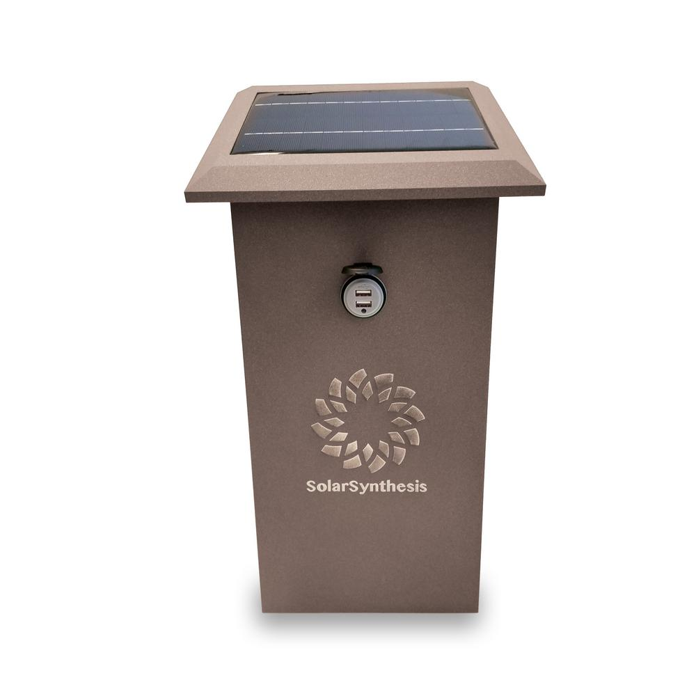 SolarSynthesis SuperCharge18 Brown 216-Watt Solar Powered USB Port Outlet Start Portable Generator with No Engine
