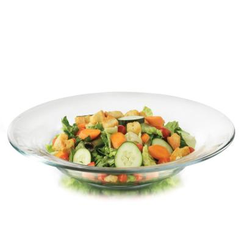 Moderno 12-piece Glass Salad or Dessert Plate Set