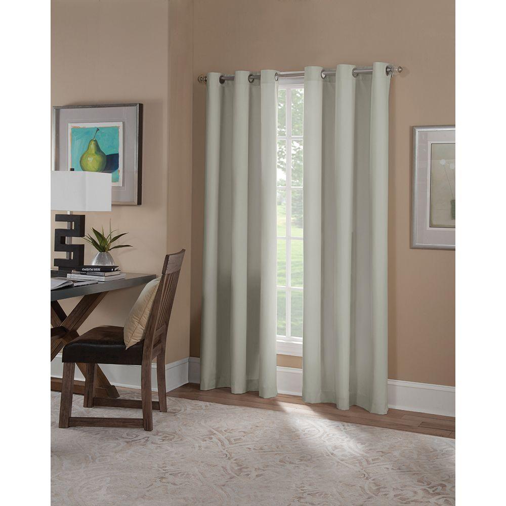 Semi-Opaque Linen Microfiber Grommet Curtain (1 Panel)