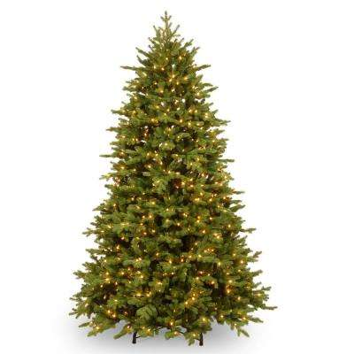 7-1/2 ft. Feel Real Princeton Deluxe Fraser Fir Hinged Tree with 1000 Dual Color LED Lights and PowerConnect
