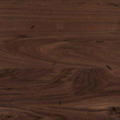 4 in. x 4 in. Wood Countertop Sample in Distressed Black Walnut Plank
