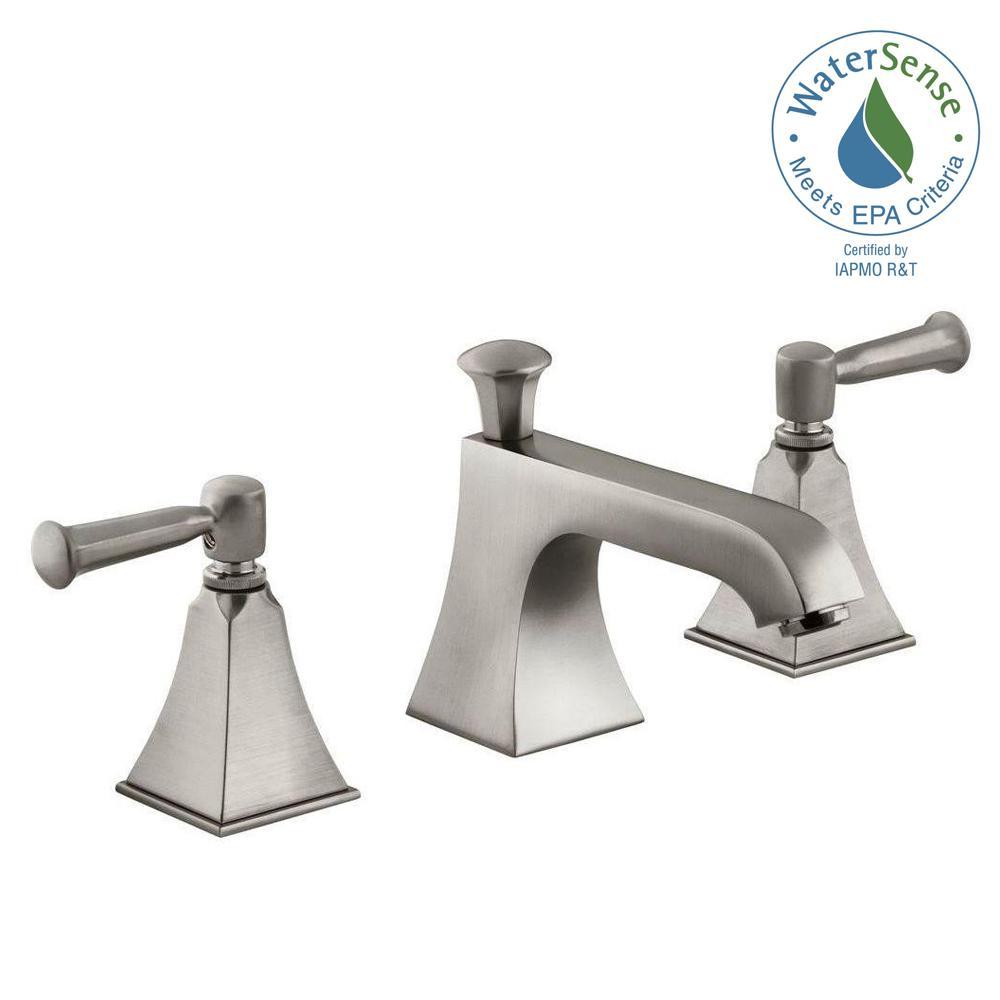 Memoirs 8 in. Widespread 2-Handle Low Arc Water-Saving Bathroom Faucet in