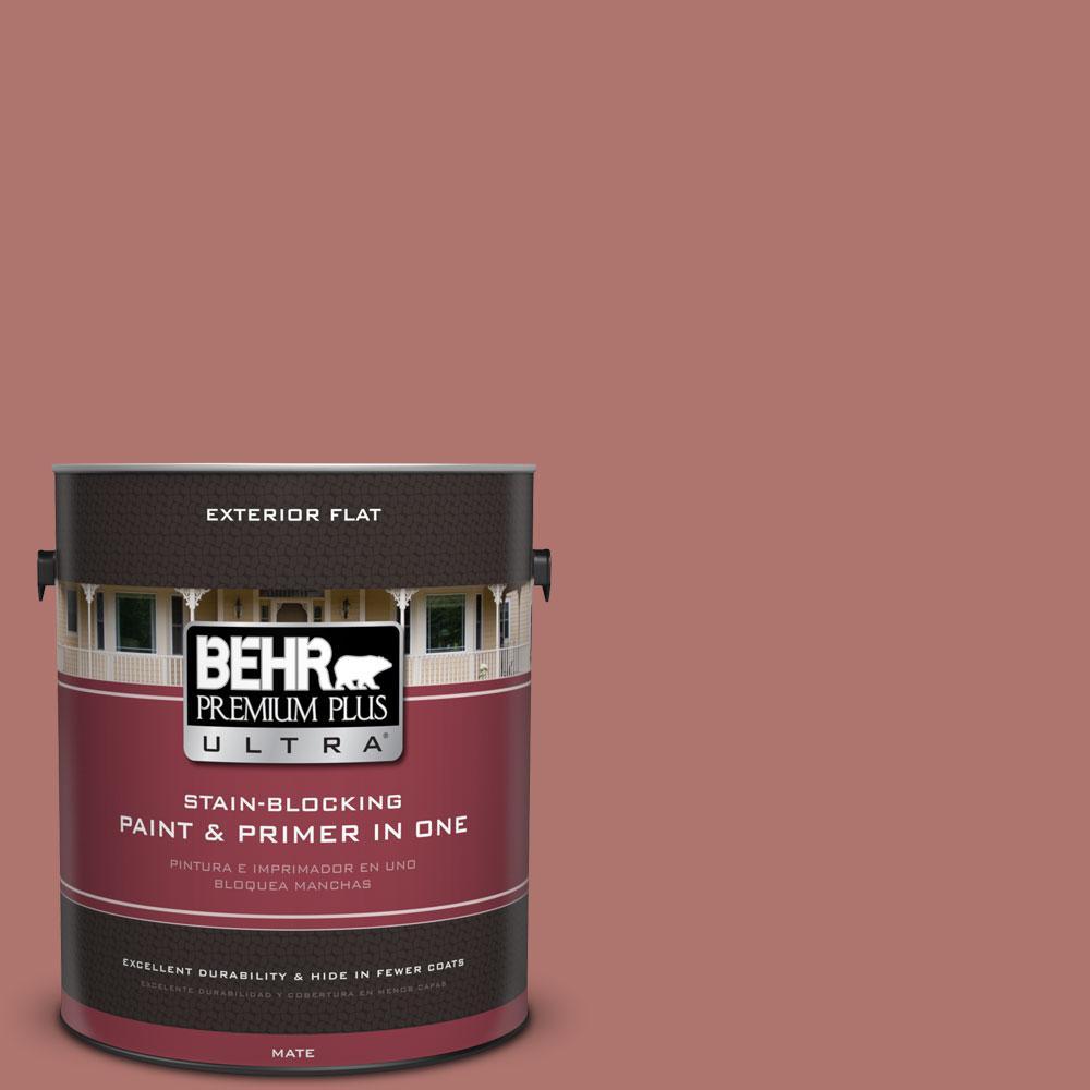 BEHR Premium Plus Ultra 1-gal. #S160-5 Hot Chili Flat Exterior Paint
