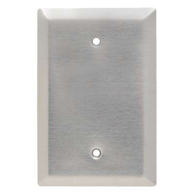 302 Series 1-Gang Jumbo Blank Wall Plate in Stainless Steel