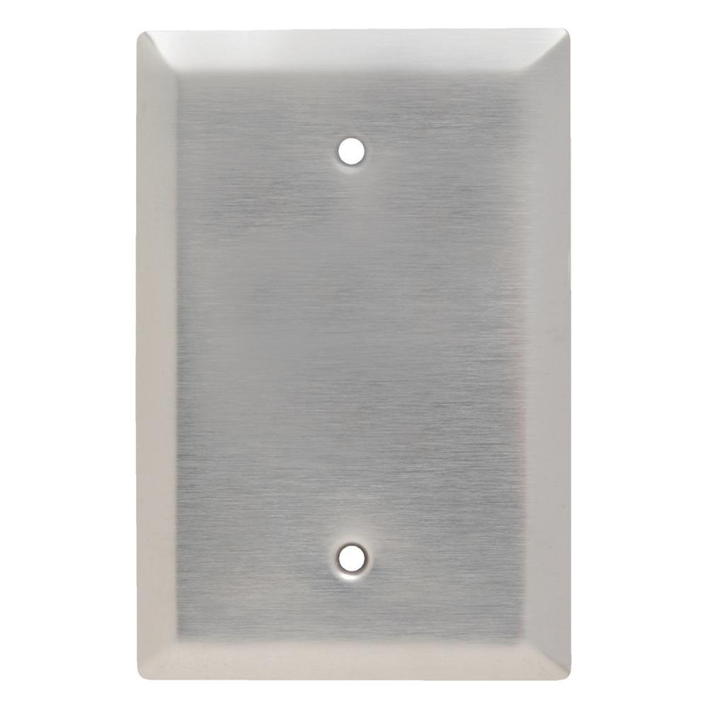 302 Series 1-Gang Jumbo Blank Wall Plate in Stainless Steel