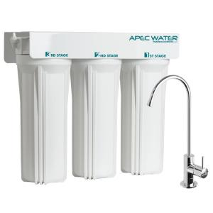 APEC Water Systems WFS-Series Super Capacity Premium Quality 3-Stage Under Counter Water Filtration System by APEC Water Systems