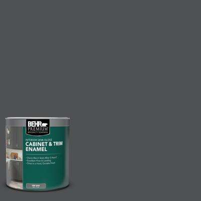 1 qt. #PPU18-01 Cracked Pepper Semi-Gloss Enamel Interior Cabinet and Trim Paint