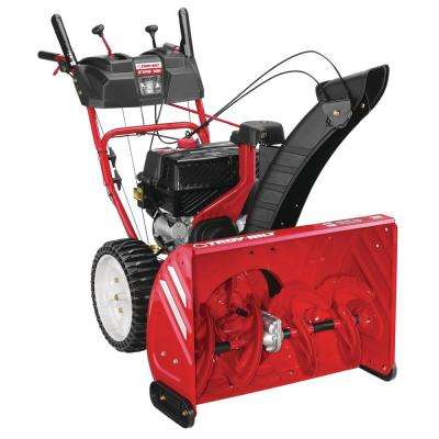 Storm 28 in. 243cc Two-Stage Electric Start Gas Snow Blower with Noise Guard Technology and Airless Tires