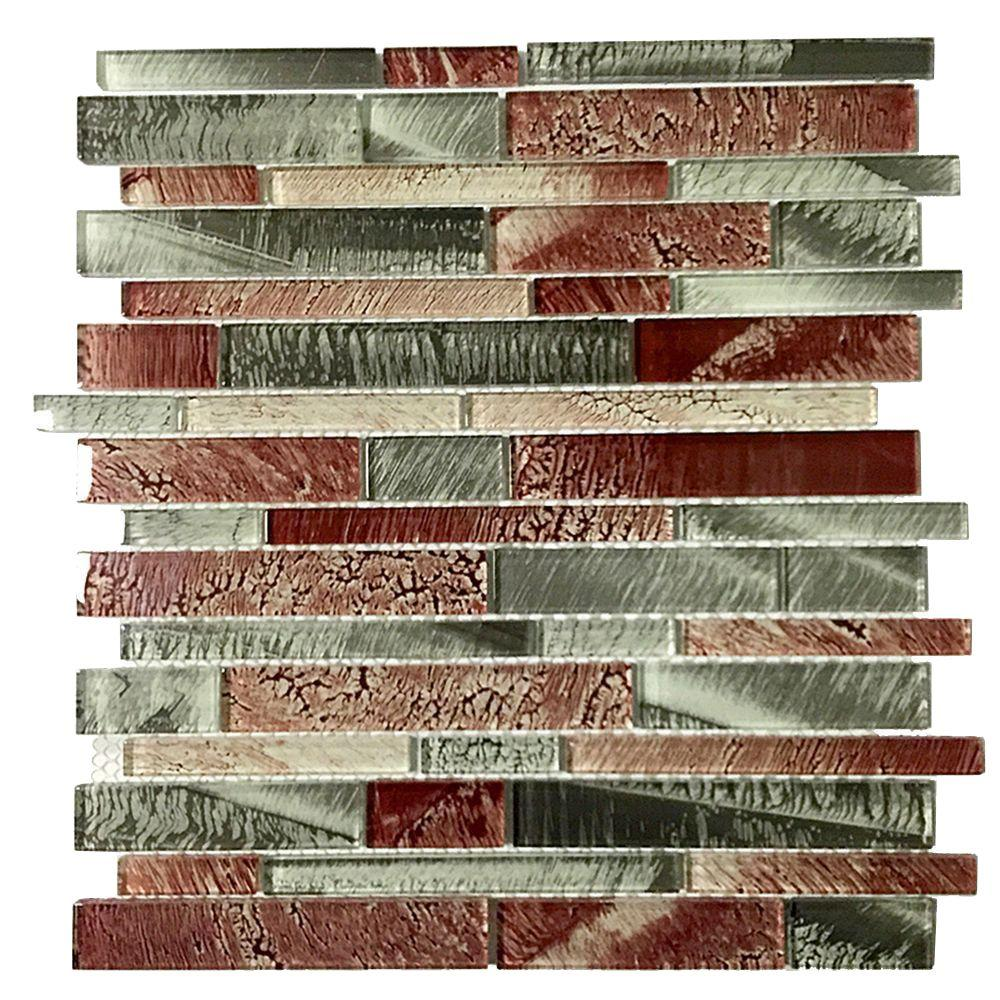 Upscale Designs Mesh-Mounted Glass Wall Tile - 3 in. x 6